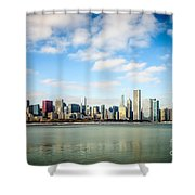 High Resolution Large Photo Of Chicago Skyline Shower Curtain by Paul Velgos