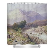 Highland Scene Near Dalmally Argyll Shower Curtain by Myles Birket Foster
