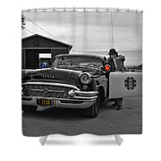 Highway Patrol 5 Shower Curtain by Tommy Anderson