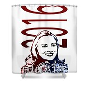 Hillary 2016 Shower Curtain by Jost Houk