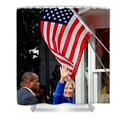 Hillary Clinton Shower Curtain by Ed Weidman