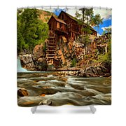 Historic Colorado Landscape Shower Curtain by Adam Jewell