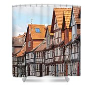 Historic Houses In Germany Shower Curtain by Heiko Koehrer-Wagner
