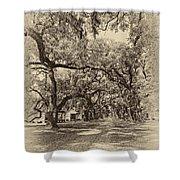 Historic Lane antique sepia Shower Curtain by Steve Harrington