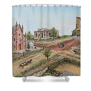 Historic Street - Lawrence Ks Shower Curtain by Mary Ellen Anderson