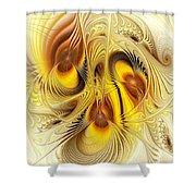 Hive Mind Shower Curtain by Anastasiya Malakhova