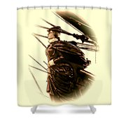 Hms Bounty - Lost At Sea  Shower Curtain by Julia Springer