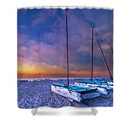 Hobecats Shower Curtain by Debra and Dave Vanderlaan