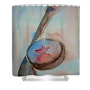 Hockey Shower Curtain by Elaine Duras