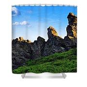 Hoher Stein Kraslice Czech Republic Shower Curtain by Aged Pixel