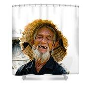 Hoi An Fisherman Shower Curtain by David Smith