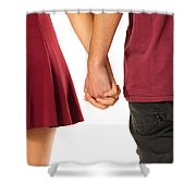 Holding Hands Shower Curtain by Carlos Caetano