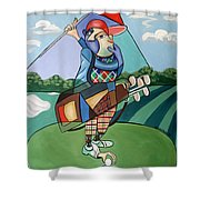 Hole In One Shower Curtain by Anthony Falbo