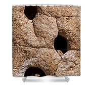 Holes In The Wall Shower Curtain by Bob Phillips