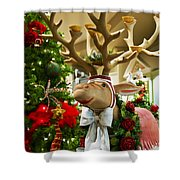 Holiday Reindeer Shower Curtain by Jon Berghoff