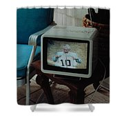 Holy Cow Phil Rizzuto Retired Yankee Number On 08 04 1985 Shower Curtain by Rob Hans