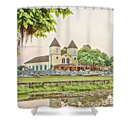 Holy Rosary Church Shower Curtain by Scott Pellegrin