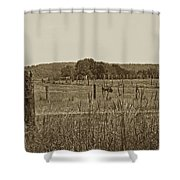 Home On The New Range Shower Curtain by Skip Willits