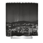Hong Kong 1987 Shower Curtain by Bob Hislop