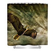 Honor Bound In Blue Shower Curtain by Lois Bryan