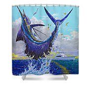 Hooked Up Off004 Shower Curtain by Carey Chen