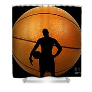 Hoop Dreams Shower Curtain by Cheryl Young
