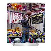 Hoop Shots Shower Curtain by Rory Sagner