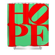 Hope 20130710 Red Green Shower Curtain by Wingsdomain Art and Photography