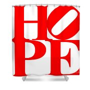 Hope 20130710 Red White Shower Curtain by Wingsdomain Art and Photography