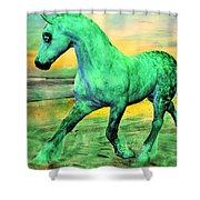 Horizon Shower Curtain by Betsy C  Knapp