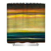 Horizons Shower Curtain by Gina De Gorna
