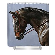 Horse Painting - Discipline Shower Curtain by Crista Forest