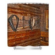Horse Stable Shower Curtain by Frozen in Time Fine Art Photography