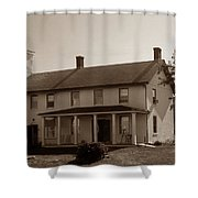Horton Point Lighthouse Shower Curtain by Skip Willits
