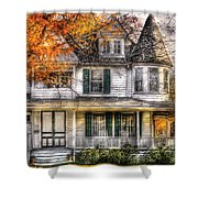 House - Classic Victorian Shower Curtain by Mike Savad