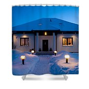 House In Winter Shower Curtain by Michal Bednarek