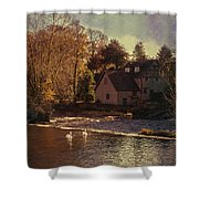 House On The River Shower Curtain by Amanda And Christopher Elwell