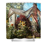 House - Westfield Nj - The Summer Retreat Shower Curtain by Mike Savad
