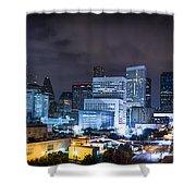 Houston City Lights Shower Curtain by David Morefield