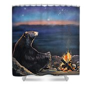 How Grandfather Bear Created The Stars Shower Curtain by J W Baker