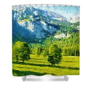 How Green Was My Valley Shower Curtain by Ayse Deniz