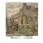Hungarian Gypsies Outside Carcassonne Shower Curtain by French School