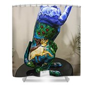 Hunt For The Unicorn On A Full Moon Shower Curtain by Genevieve Esson