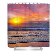 Huntington Beach Drama Shower Curtain by Kelley King
