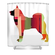 Husky Shower Curtain by Naxart Studio
