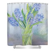 Hyacinths Shower Curtain by Sophia Elliot