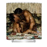 I Adore You Shower Curtain by Kurt Van Wagner