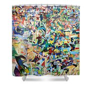 I believe this and understand it fully well 13 Shower Curtain by David Baruch Wolk