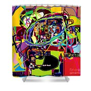 I Believe With Complete Faith In The Coming Of Mashiach 5 Shower Curtain by David Baruch Wolk
