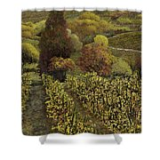 I Filari In Autunno Shower Curtain by Guido Borelli